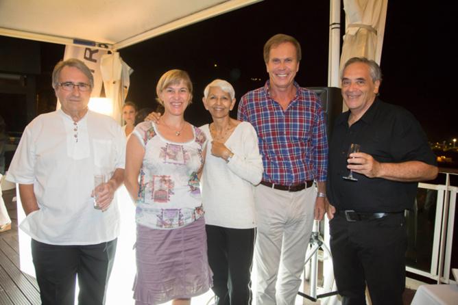 Jean-Claude Cazaubon, Catherine Aouate, Mamie Breslaw, Bernard Sage, et Jean-Marc Breslaw
