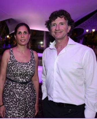 Fabienne Redt, présidente du Festival du Film de La Réunion et Christophe Vielle