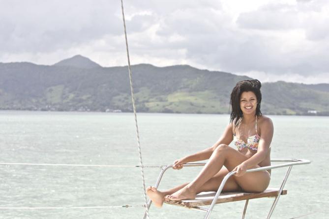 Miss Réunion savoure l'Ile Maurice