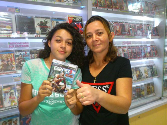 Sophie Pyt a gagné FARCRY 3 sur Playstation 3