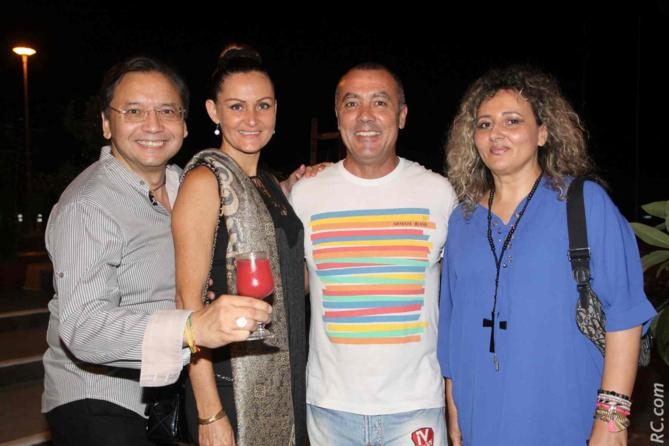 Alain et Marlène N'Guyen-Legros, Dominique Barret, artiste, et Geneviève Prugnières