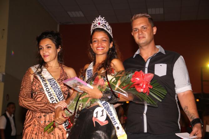 Emilie Gauthier, Mademoiselle Réunion 2014, Chloé Vincelot, Mademoiselle Réunion 2015, et Eddy Séry
