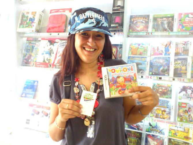 Delphine Smith a gagné un jeu OUI-OUI sur Nintendo DS