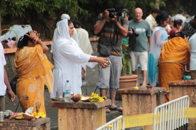 Des offrandes pour Shiva