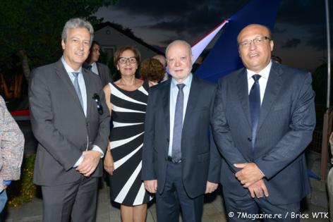Zoran Jelkic, madame Fruteau, Jean-Claude Fruteau député de La Réunion et Frédéric Alory