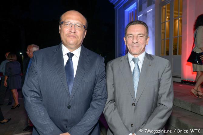Frédéric Alory et Jean-Marc Grazzini, directeur adjoint d'Air Austral