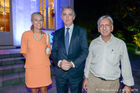 Catherine Ronin, Frédéric Gagey et Aziz Patel de 7magazine.re
