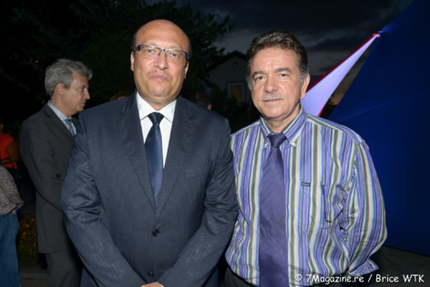 Frédéric Alory et Patrick Geiglé, directeur de La Caisse d'Epargne Réunion