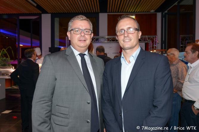Frédéric Cormerois, directeur régional BRED/Banque populaire et Pierre-Alexandre Rebboah directeur général de Leal Réunion