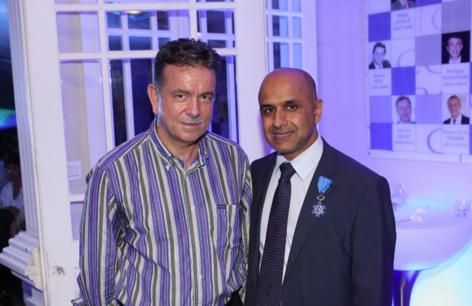 Patrick Geiglé, directeur régional de la Caisse d'Epargne de La Réunion et Abdoullah Lala