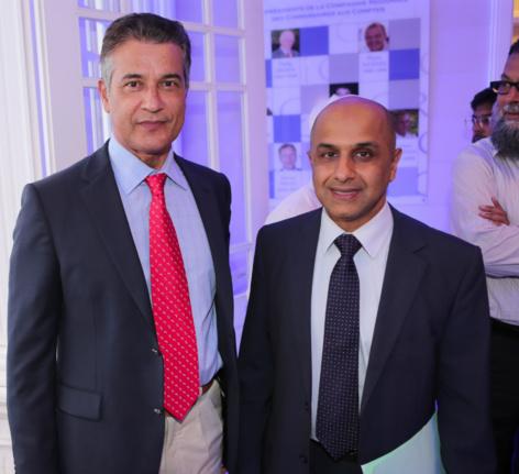 Ibrahim Dindar, vice-président du Conseil Général et Abdoullah Lala
