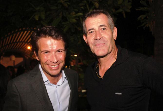 Christophe Bégert venu en épicurien, ici avec Jimmy Allié