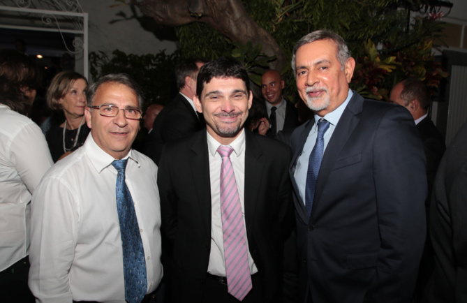 Un invité,Patrice Mazzei, directeur de la banque de développement régional et Youssouf Mohamed