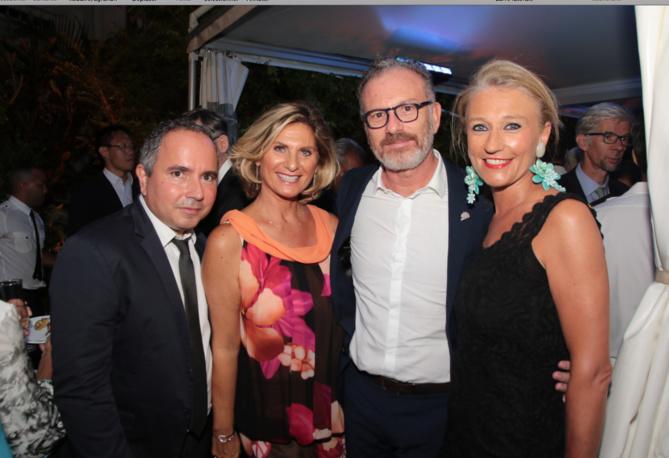 Bernard Faye, Laurence Haggai, Pascal Montrouge, directeur des théâtres départementaux et Catherine Ronin