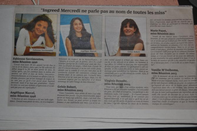 6 Miss ont témoigné et confirmé leur belle expérience de Miss Réunion