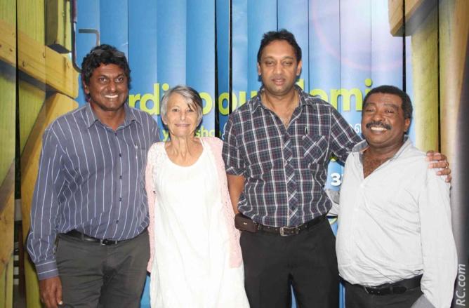 Patrice Souprayenmestry, Gisèle Surjus, membre du CCEE, Saravanan Rangaradjou, chargé de mission CCEE responsable de l'organisation du colloque, et Max Belvisée, membre du CCEE