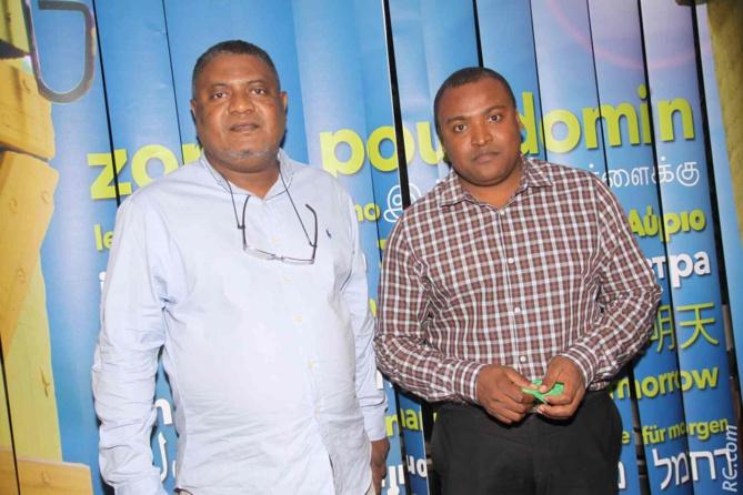 Madi Vita, président CCEE Mayotte, et son directeur Abdoulkarim Issoufali