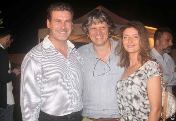 Gilles Couapel, président Dom'Eau, Mr Grouard, architecte, et Anne Javerzac-Grouard, avocate