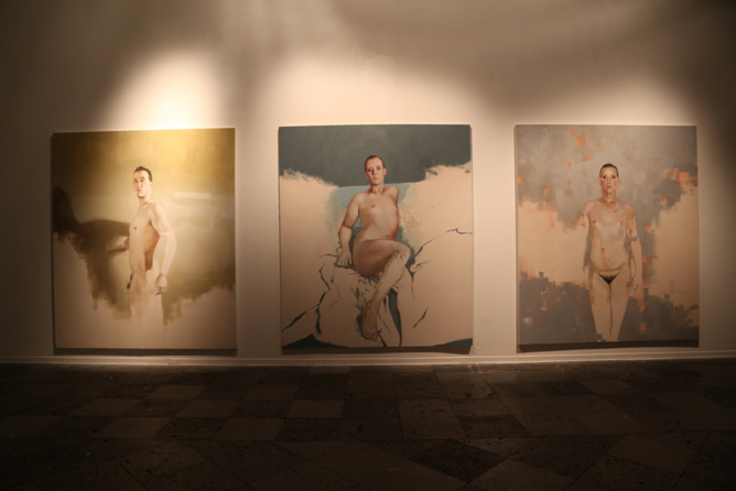 Le Tryptique présenté par Abel Técher au Musée Léon Dierx actuellement