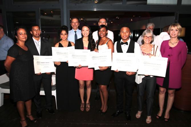 Les 6 lauréats qui on obtenu une bourse