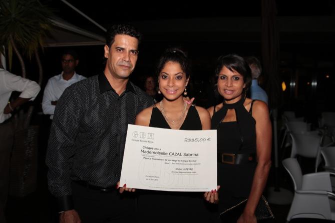 Sabrina Cazal et ses parents