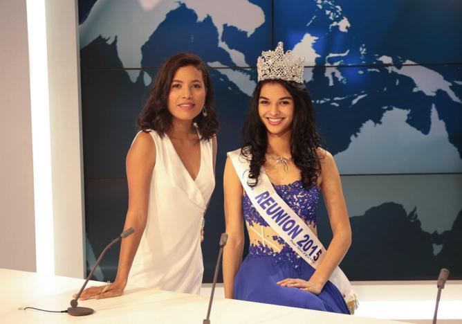 Avec Emilie de Balmann chez Réunion 1ère