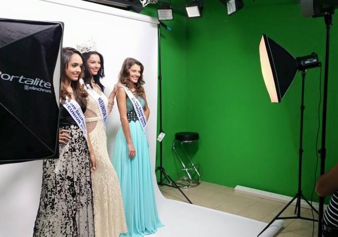 Séance de photos officielles pour Miss Réunion et ses dauphines