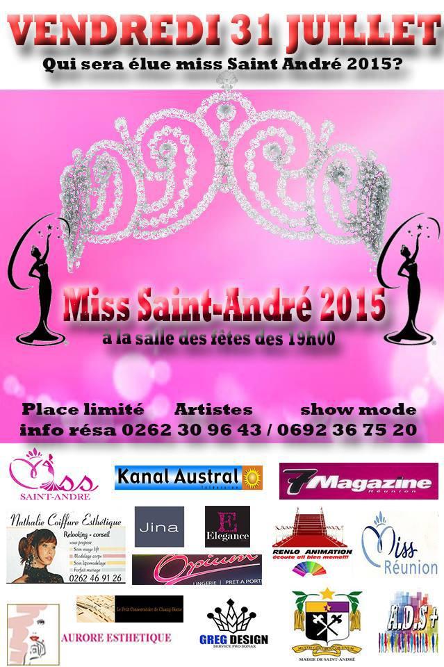 Miss Saint-André 2015<br>Les 11 jolies candidates