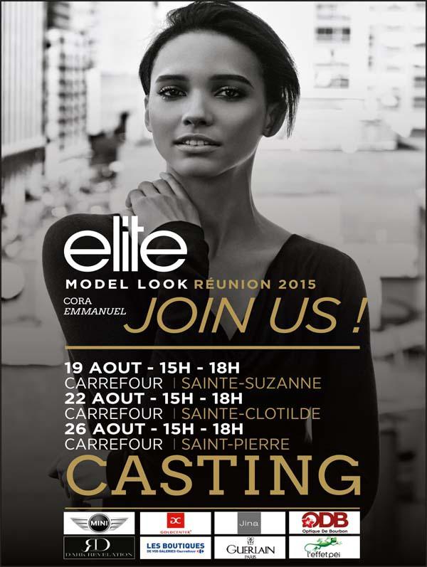 Les grands castings Elite Model Look Réunion 2015 en août...