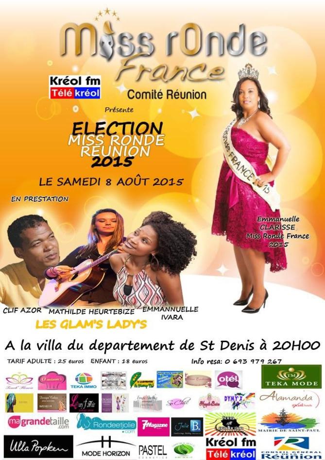 Miss Ronde Réunion<br>Qui succédera à Emmanuelle Clarisse?