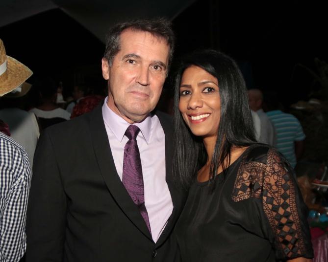 Denis Léonis du cabinet du président de Région, et Daniéla Soundron, adjointe au maire de Saint-Pierre