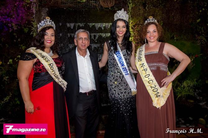 Miss Ronde France, Aziz Patel, Azuima Issa et Lindsay Grison, Miss Ronde Nord Pas-de-Calais 2014, une Réunionnaise installée en métropole et qui était de passage dans l'île