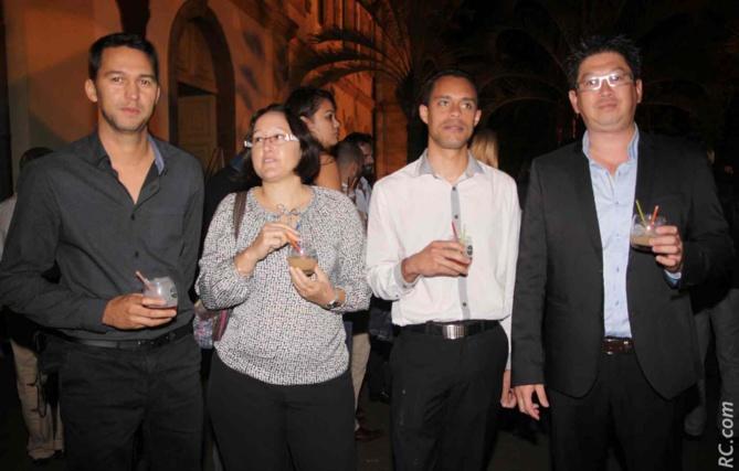 Mickaël Maurer, comptable, Audrey Bang, directrice administrative et financière, Fabrice Cerco, commercial, et Olivier Chan-Ky, chef des ventes, tous des Rhums Punchs Isautier