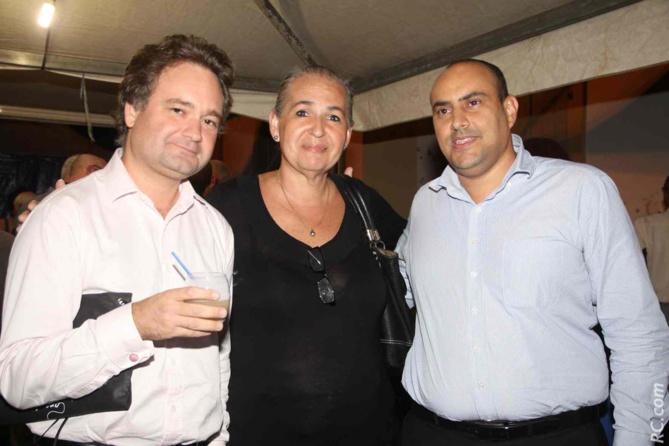 David Affejee, avocat, Danièle Le Normand,et un invité
