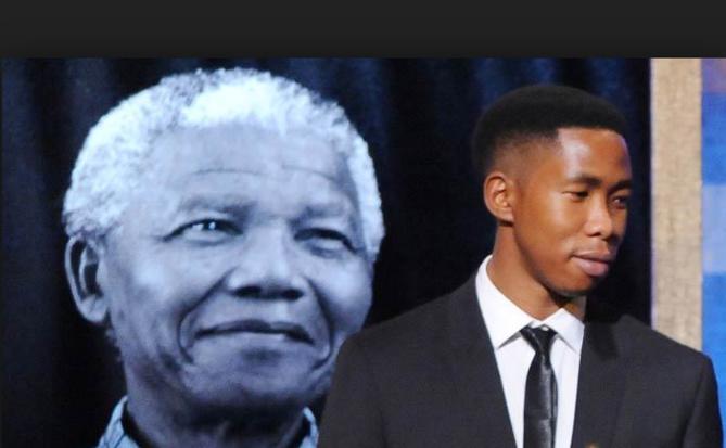 Mbuso Mandela lors d'un hommage à son illustre grand-père
