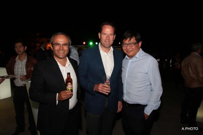 Doron Wijnschenk, Boudewijn Haarsma et Pascal Thiaw-Kine