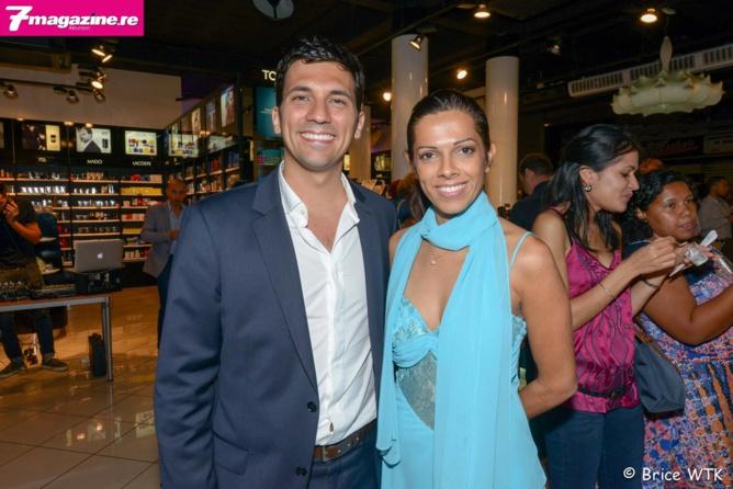Julien Fagoaga, délégué commercial Océan Indien Guerlain et Asma Ingar, directrice de Mado