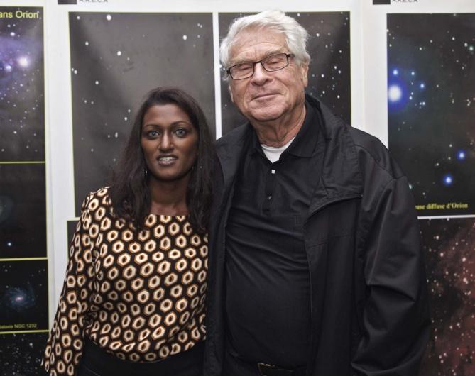 Emmanuella Anepadeatchy, adjointe de direction au Diana Dea Lodge, et Gérard Hessler