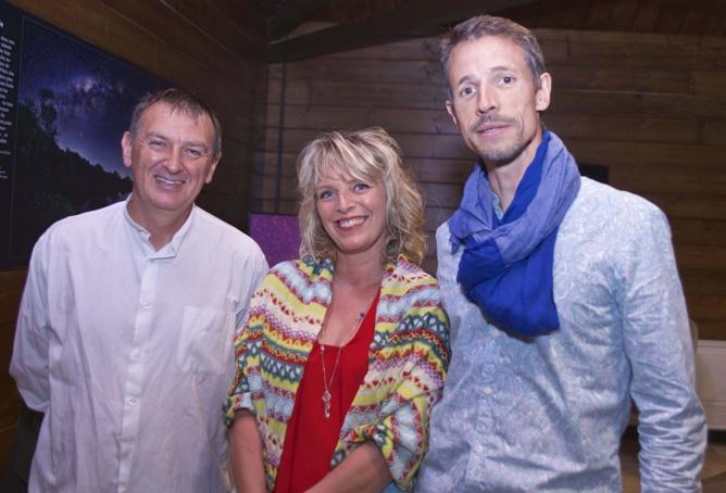 Fabrice H aux côtés de Catherine Ferrandin, artiste-peintre et son époux