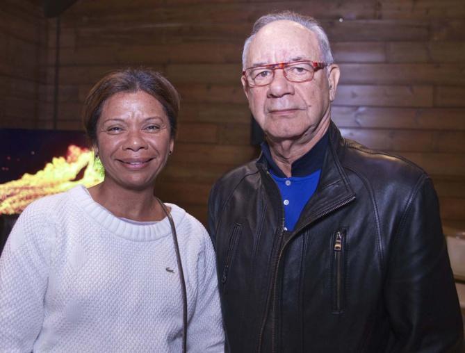 L'écrivain René Edmond Lauret et sa compagne