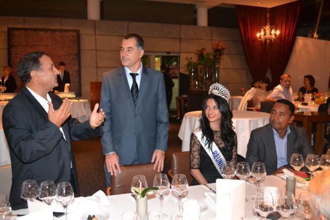 Mahieddine Hedli, Thierry Romanos, Azuima Issa, et le Ministre polynésien Tearii Alpha