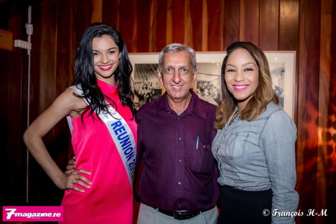 Avec Aziz Patel du Comité Miss Réunion et Lucie Ignace, championne de karaté, qui travaille à l'Artothèque