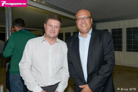 Thierry Beltrand, directeur de l'IEDOM Réunion et Frederic Alory, directeur régional d'Air France Océan Indien