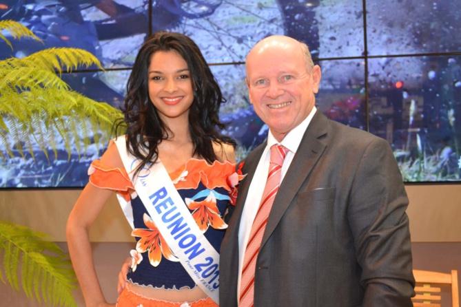 Miss Réunion avec Alain St-Ange, Ministre du Tourisme des Seychelles