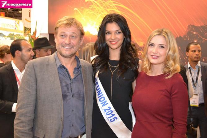 Deux acteurs de la série Cut étaient de passage sur le stand de La Réunion: Antoine Stip et Sabine Perrot