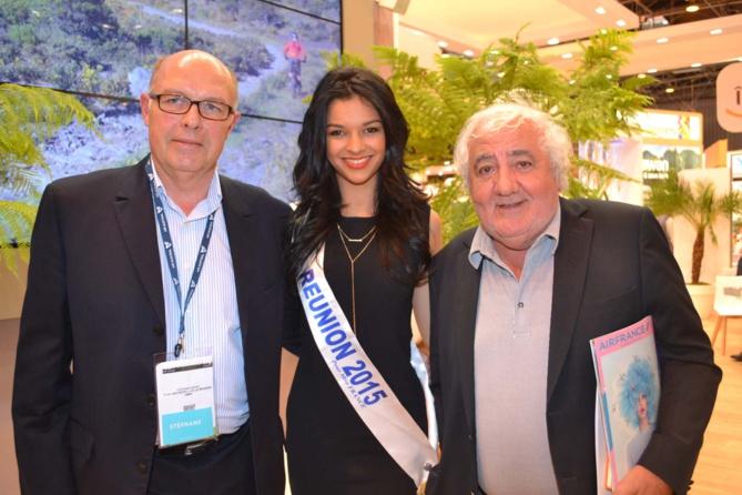 Stéphane Baras, directeur général LUX Saint-Gilles, Azuima Issa, et un professionnel du tourisme