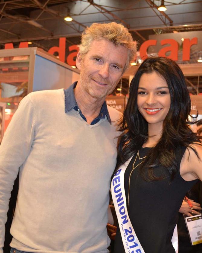 Miss Réunion avec le célébrissime Denis Brogniart