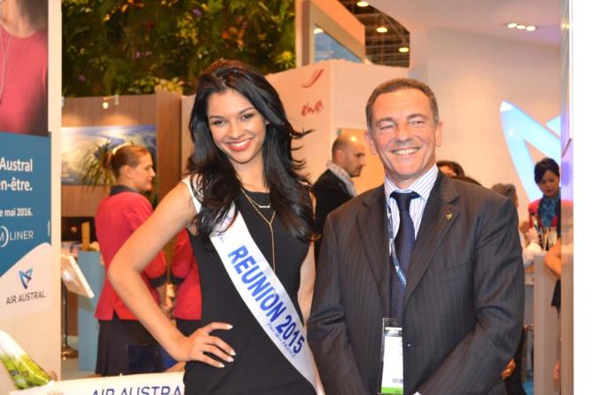 Miss Réunion avec Jean-Marc Grazzini, directeur général Air Austral