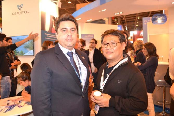 Pascal Viroleau, directeur des Iles Vanille, et Alfred Chane Pane, président ICP Roto