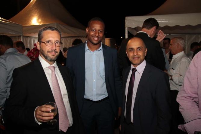 Stéphane Foucault, directeur de l'AFD, Adama Mariko son collaborateur et Abdoullah Lala vice-président Ceser